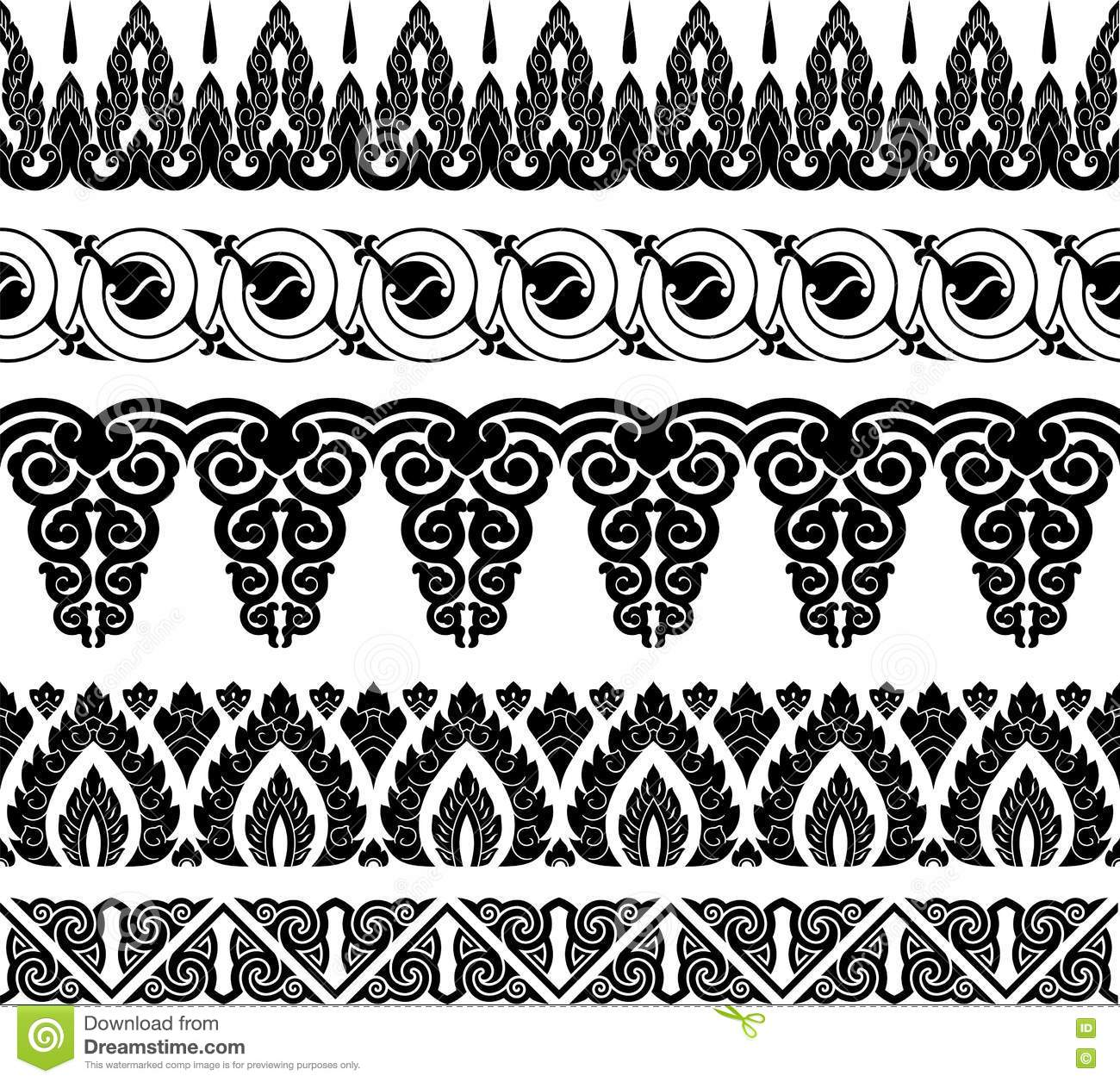 Border And Ornament Black White