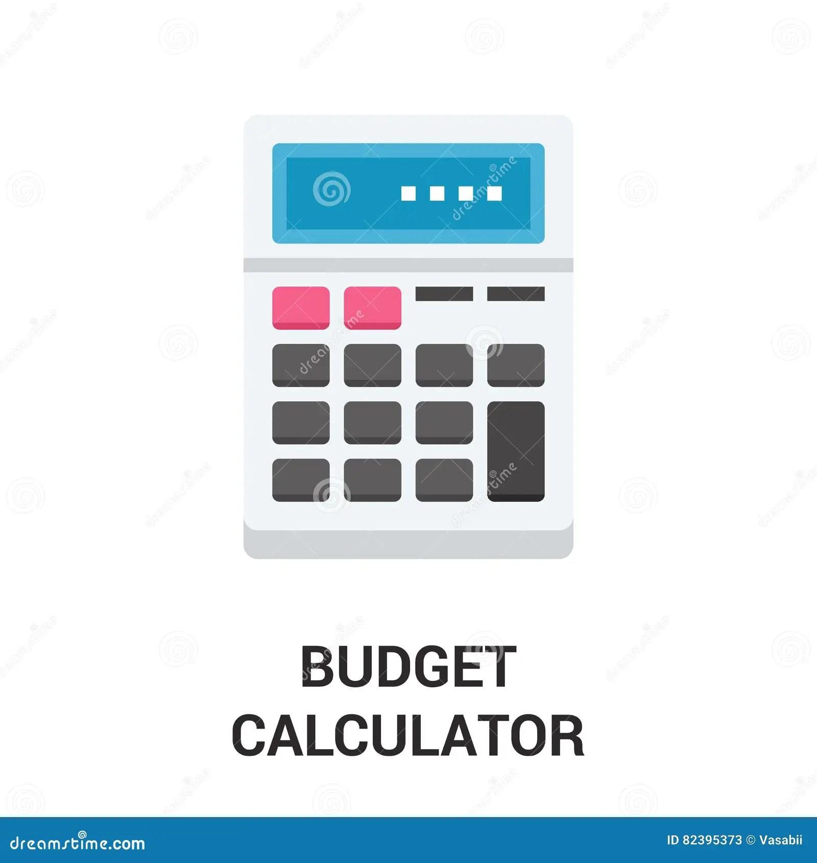Budget Calculator Icon Concept Stock Image