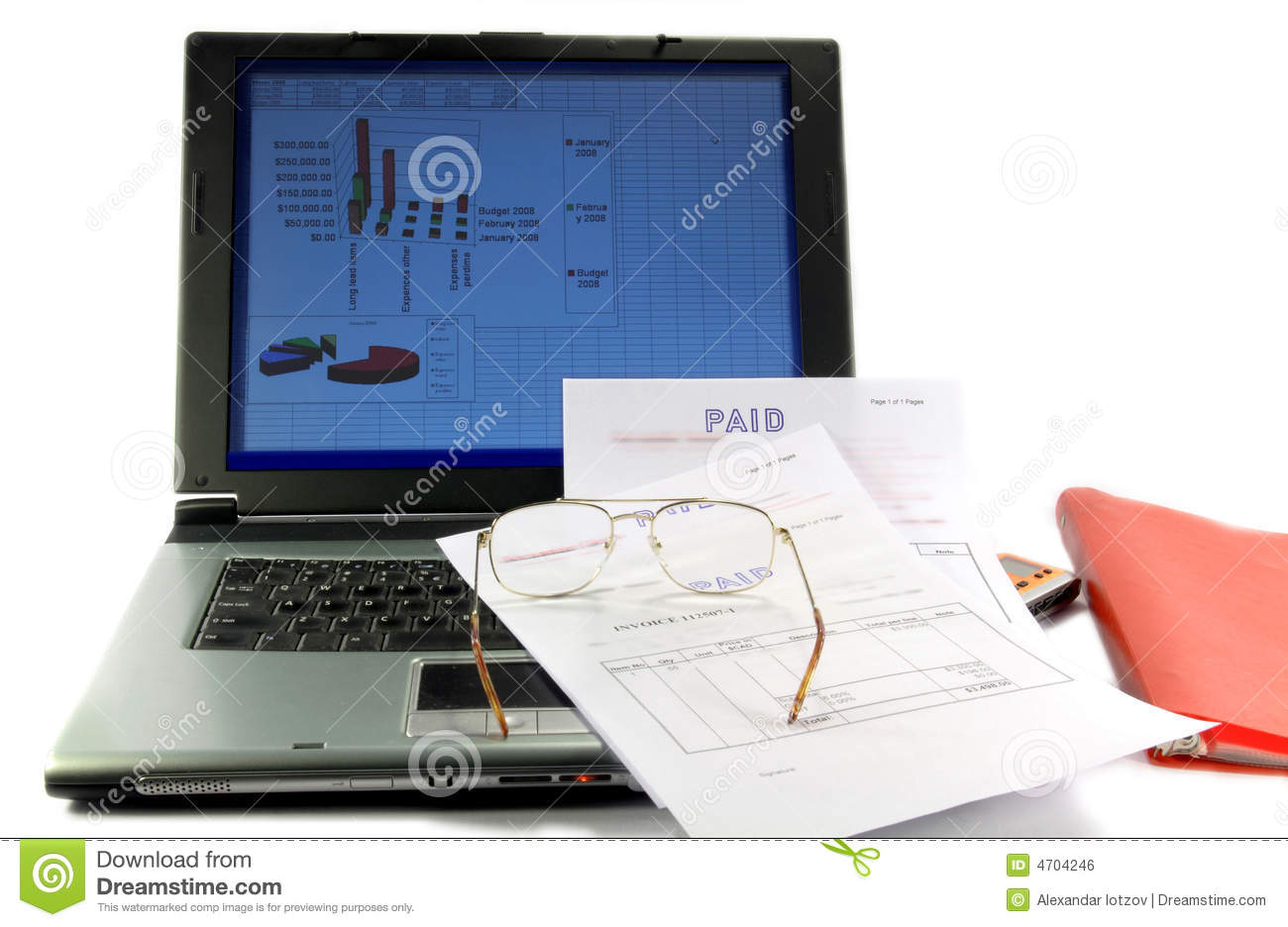 Budget Of A Project And Cash Flow Management Stock Photo