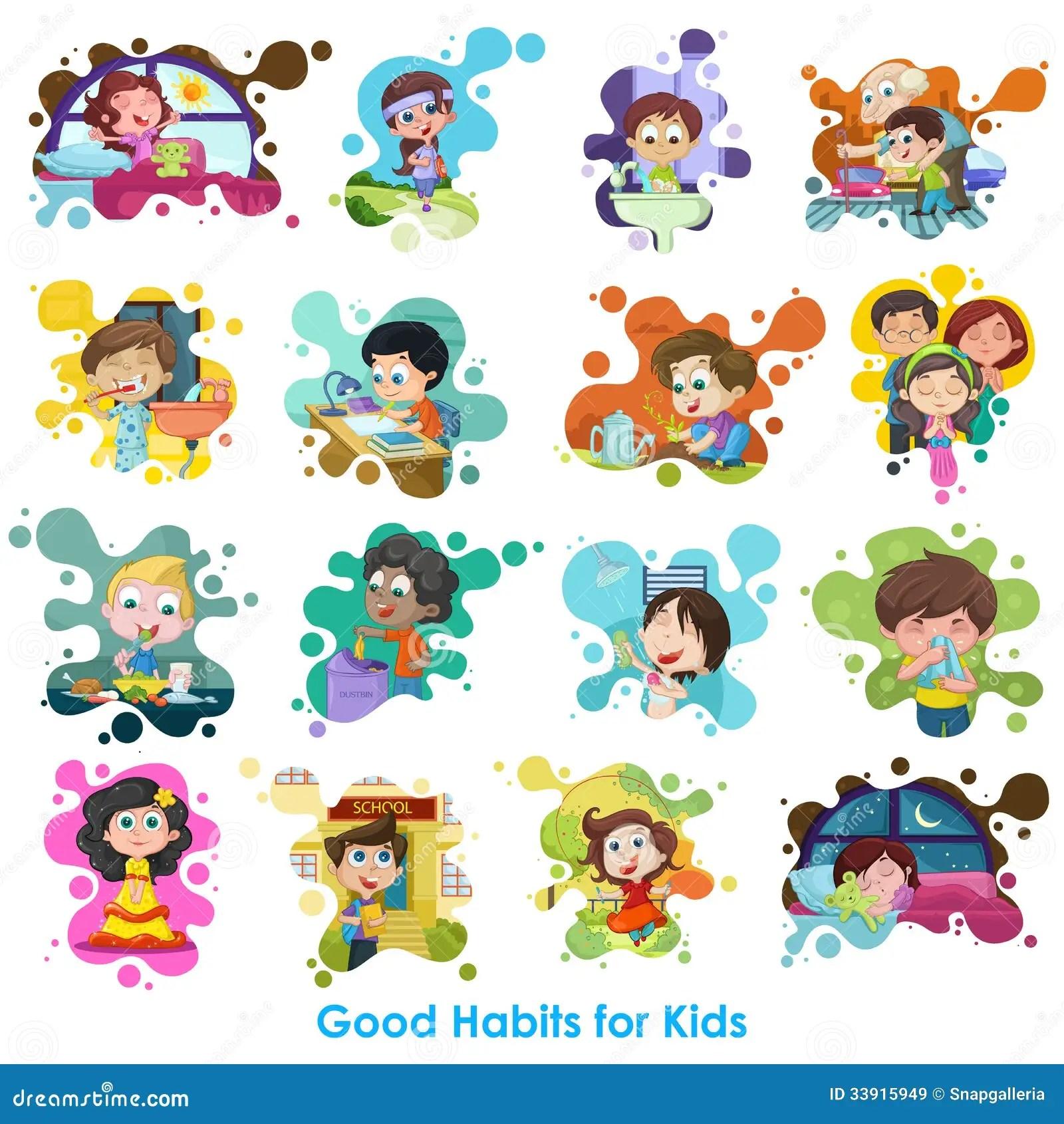 Buena Carta De Los Habitos Ilustracion Del Vector