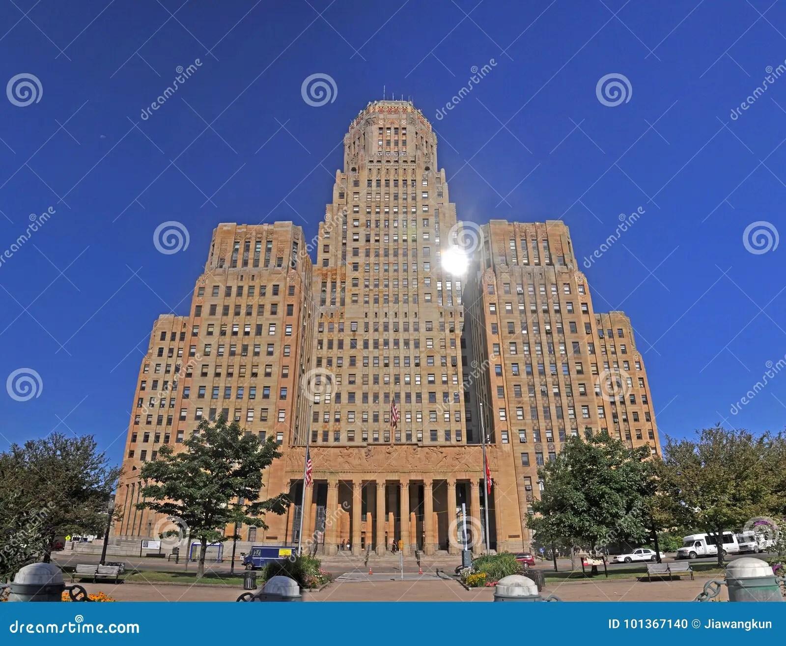 Buffalo City Hall. New York. USA Stock Photo - Image of american. brick: 101367140