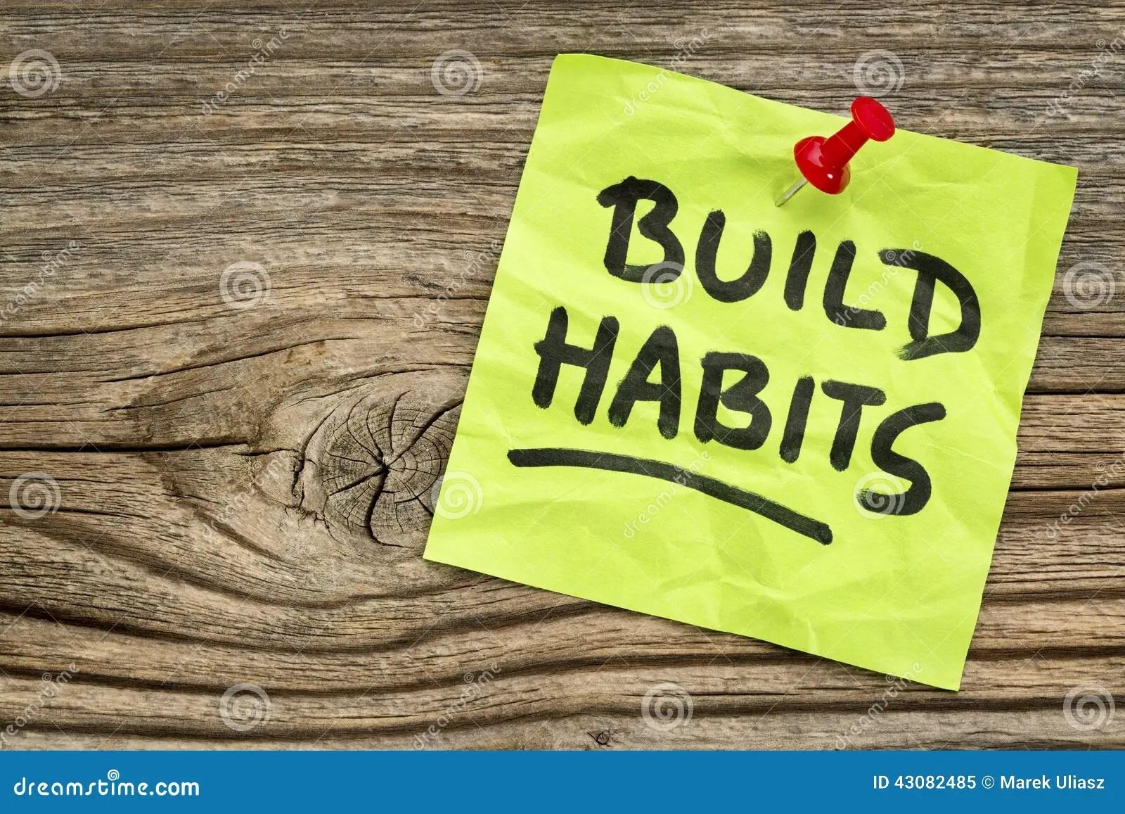 Build Habits Reminder Stock Image Image Of Reminder