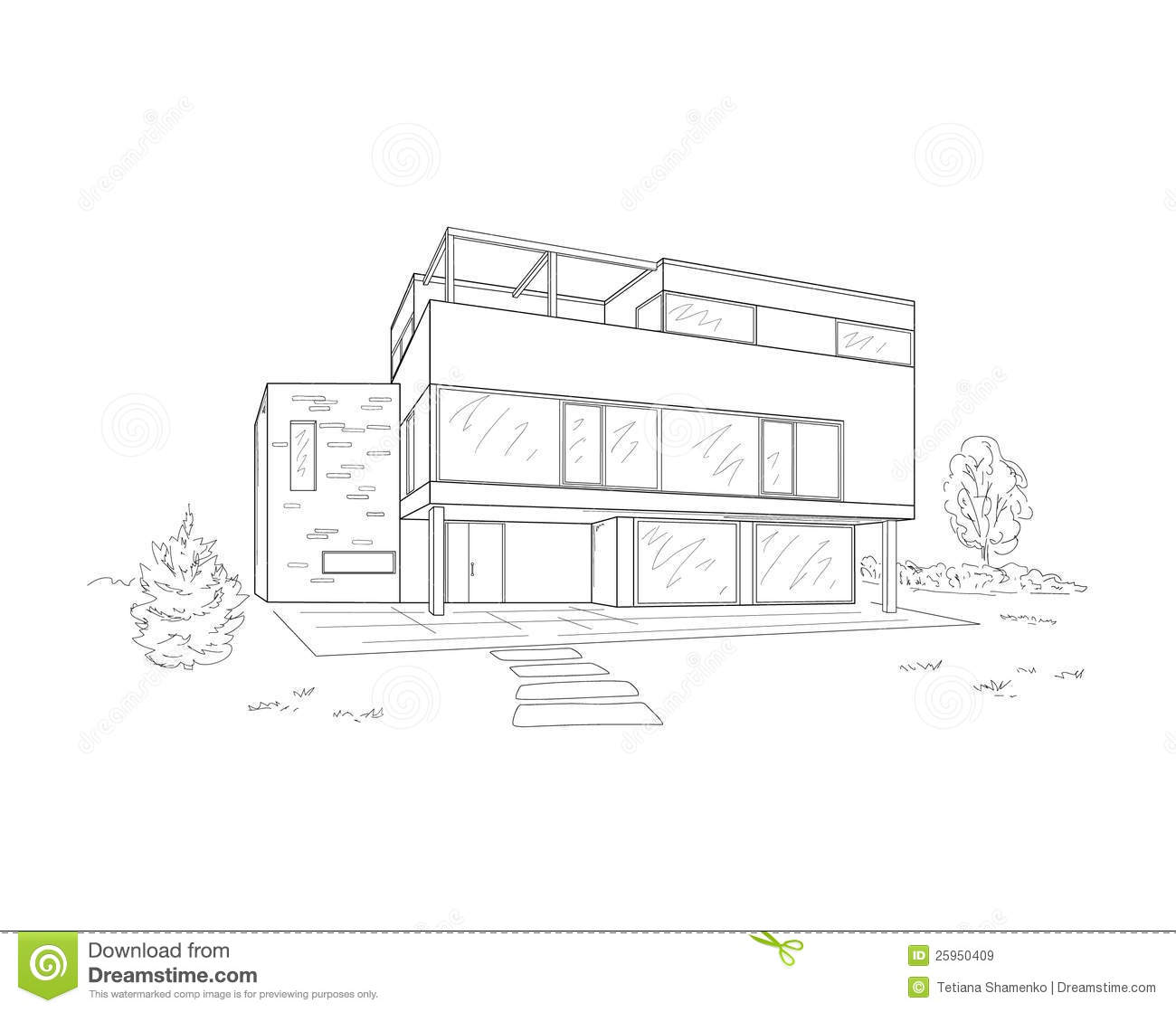 Building drawing stock vector. Illustration of plan