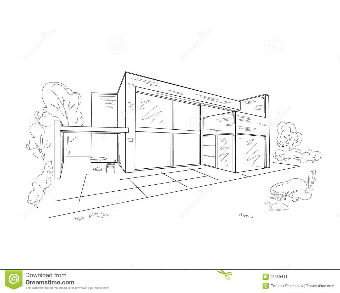 Building drawing stock vector. Image of investment