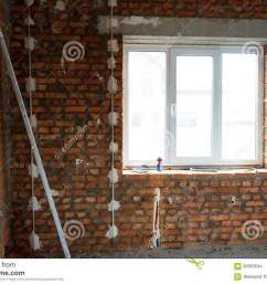 performed work on electrical wiring and installation of windows prepared the surface of brick walls to gypsum plaster [ 1300 x 955 Pixel ]