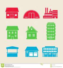 Building Icons Stock Vector. Of Growth Apartment