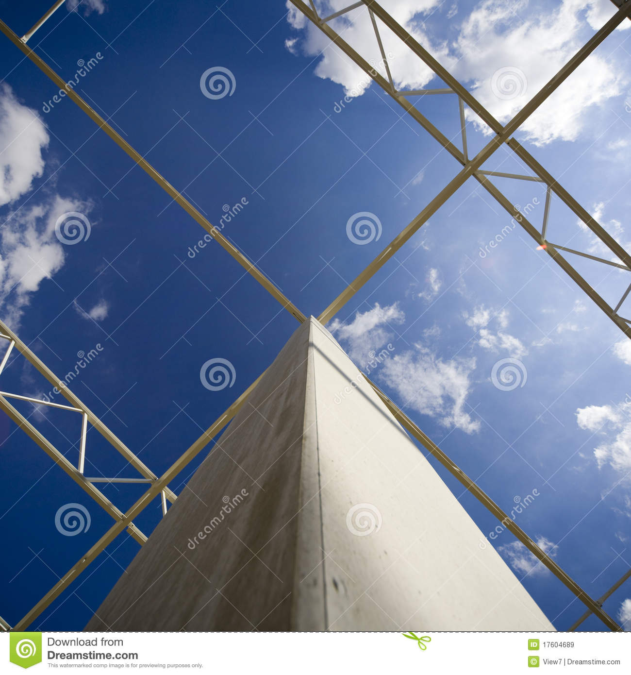 Building Support System Stock Image Image Of Beam