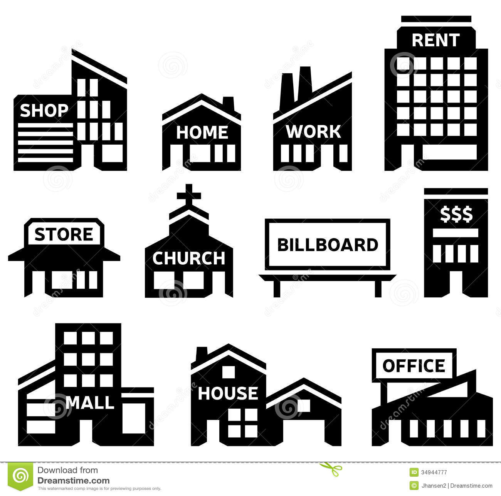 Building Symbols Stock Vector Illustration Of Contour