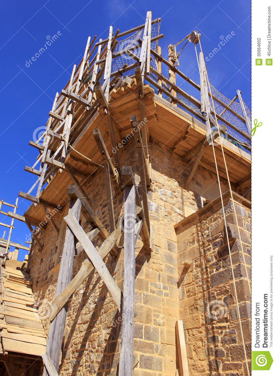 Building work stock photo Image of guedelon middle  35664602