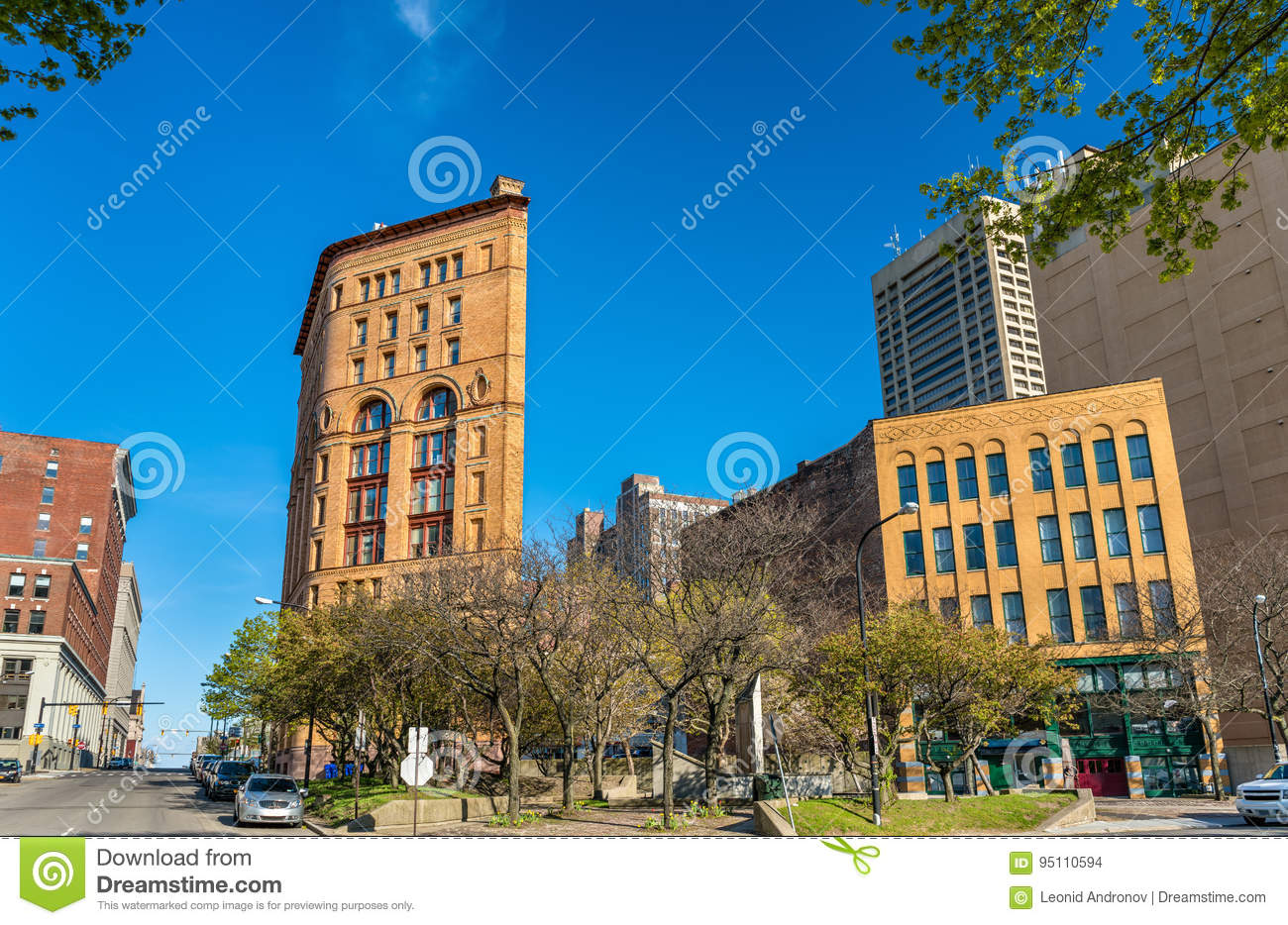 Buildings In Downtown Buffalo - NY. USA Stock Photo - Image of america. corner: 95110594