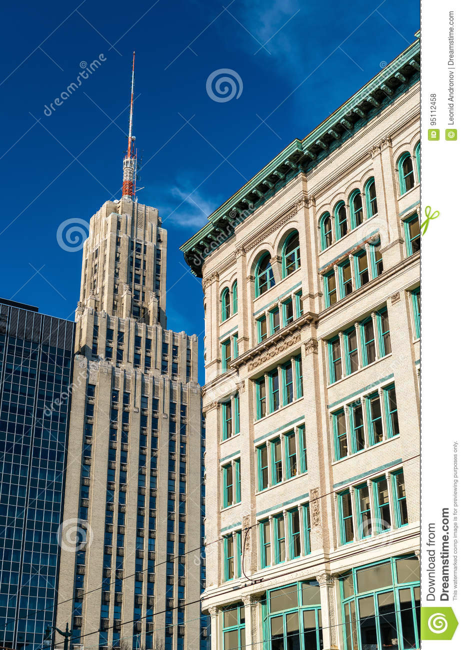 Buildings In Downtown Buffalo - NY. USA Stock Photo - Image of cityhall. erie: 95112458