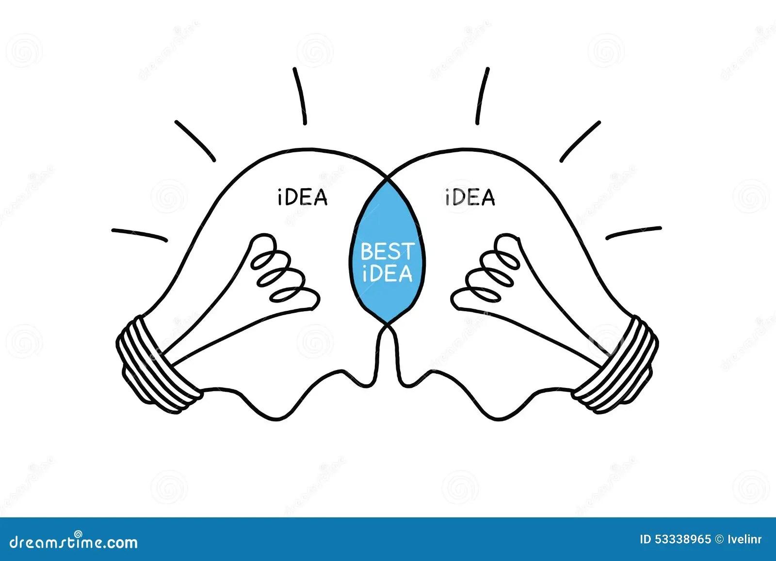 Bulbs Concept Best Idea stock illustration. Illustration