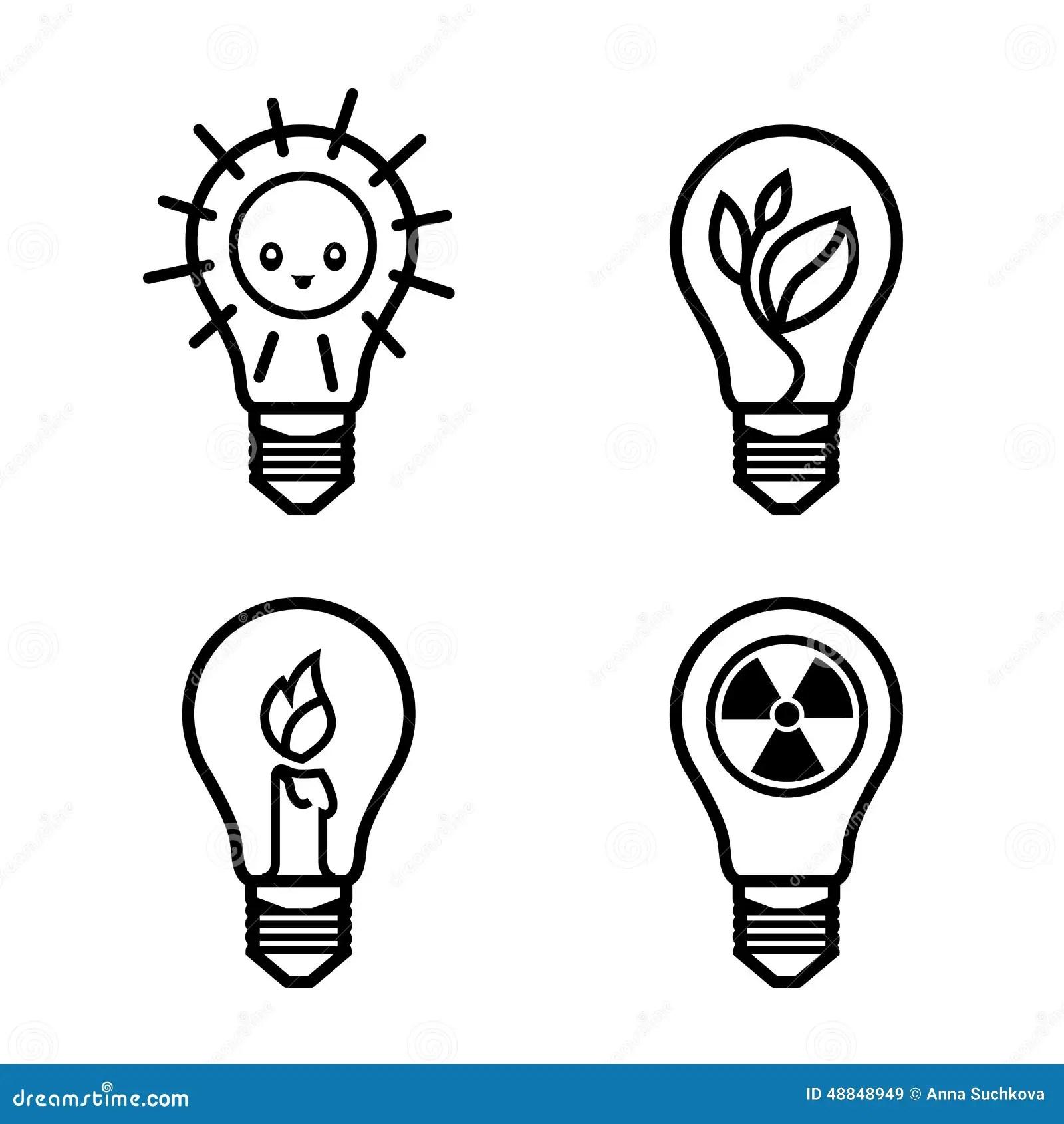 Bulbs Symbols Stock Vector