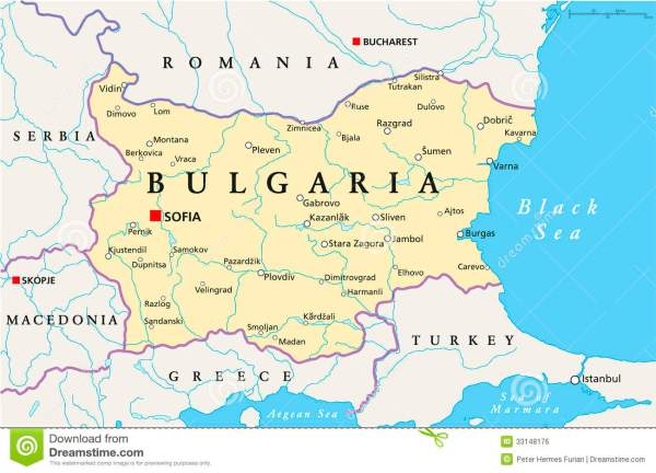 Bulgaria Political Map Royalty Free Stock Image Image