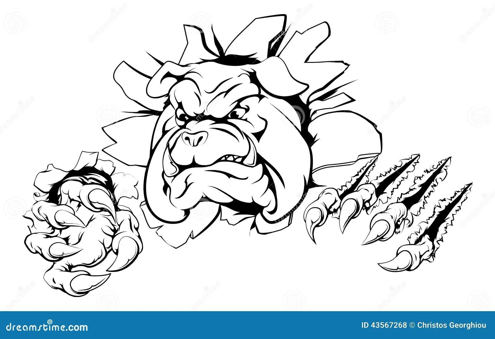 Bulldog Claw Breakthrough Stock Vector