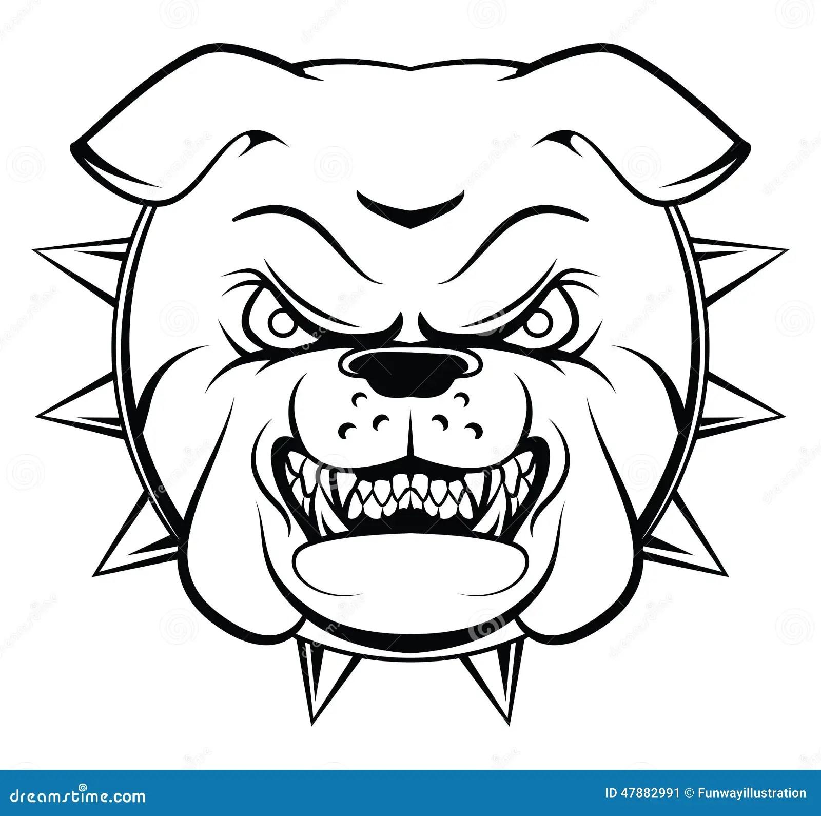 Bulldog Head Stock Vector