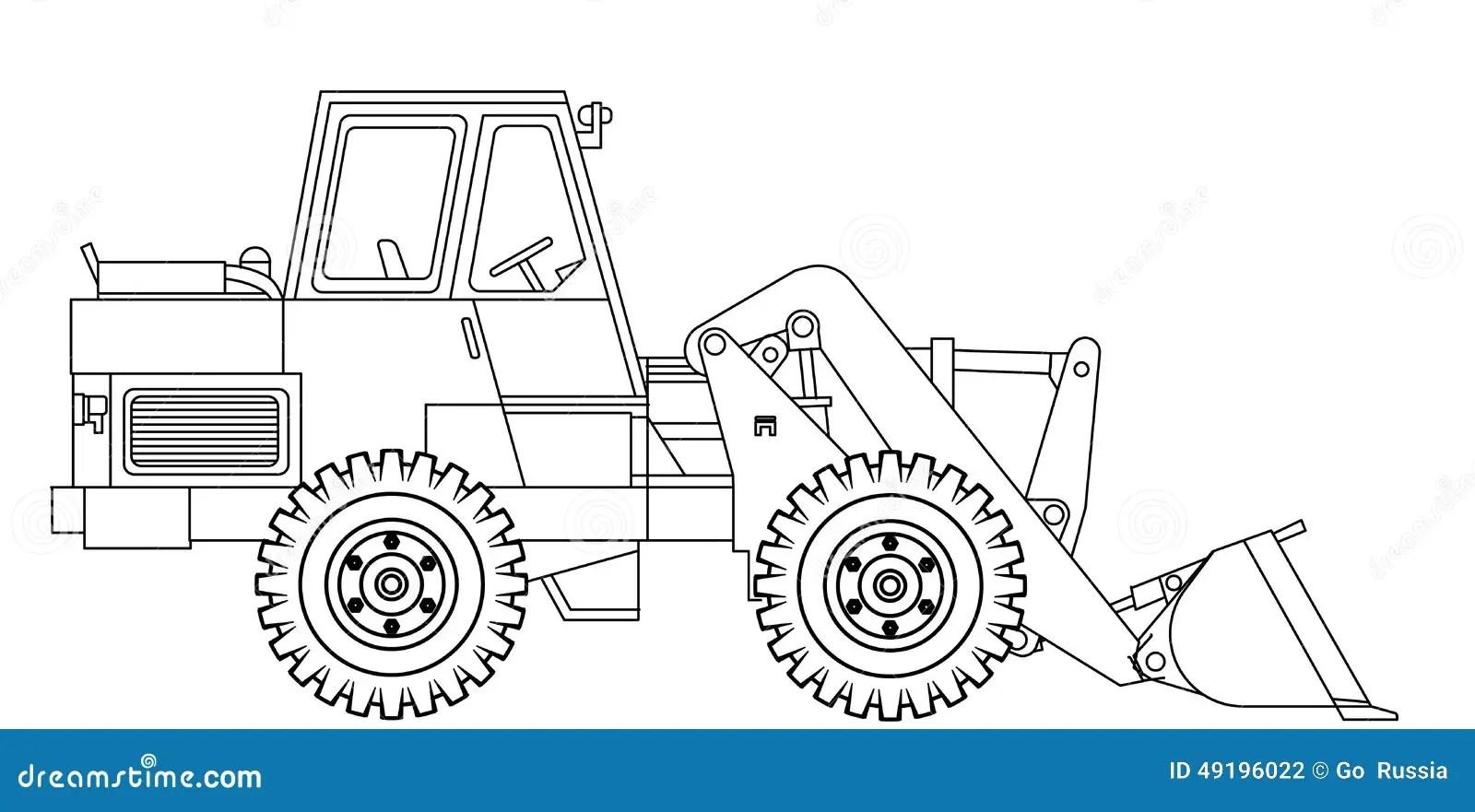 Bulldozer stock illustration. Illustration of land