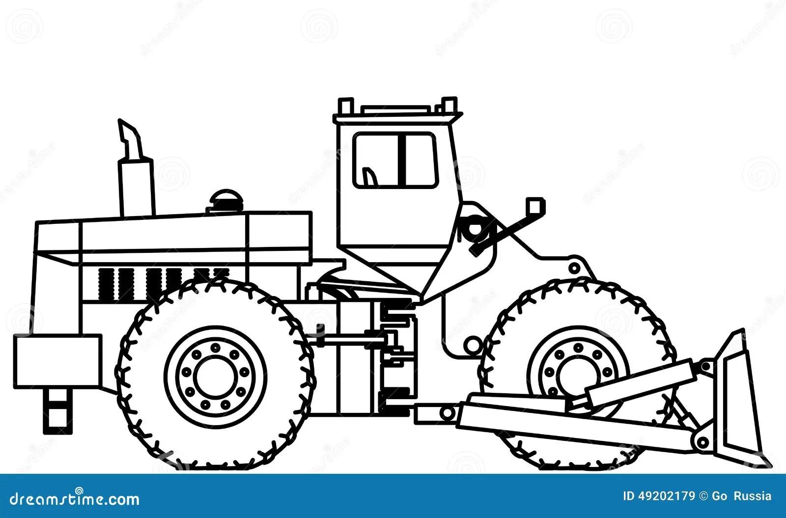 Bulldozer Stock Vector Illustration Of Draw Excavator