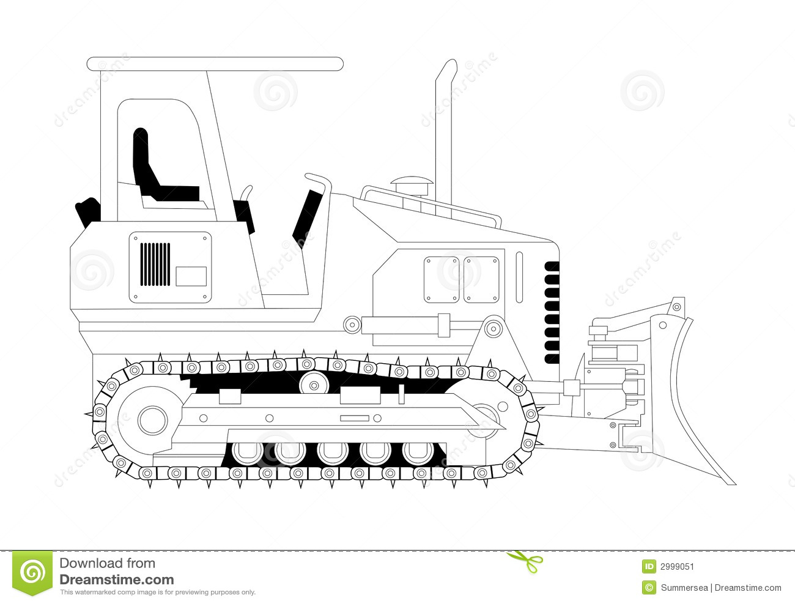 Bulldozer Vector Illustration Stock Image