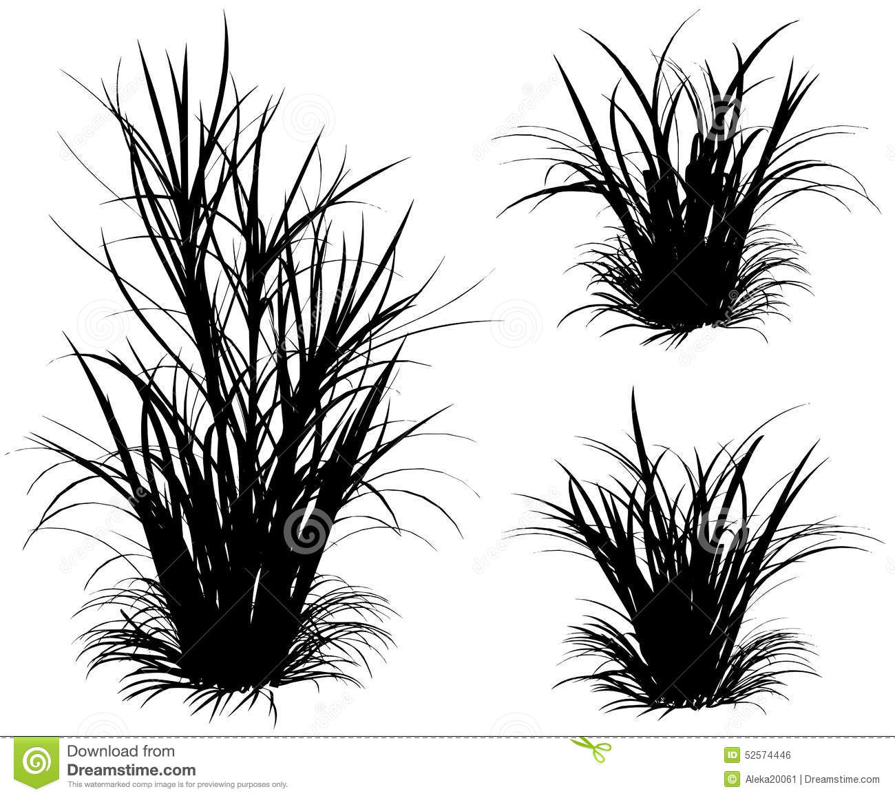 A Bunch Of Grass Stock Vector Illustration Of Branch