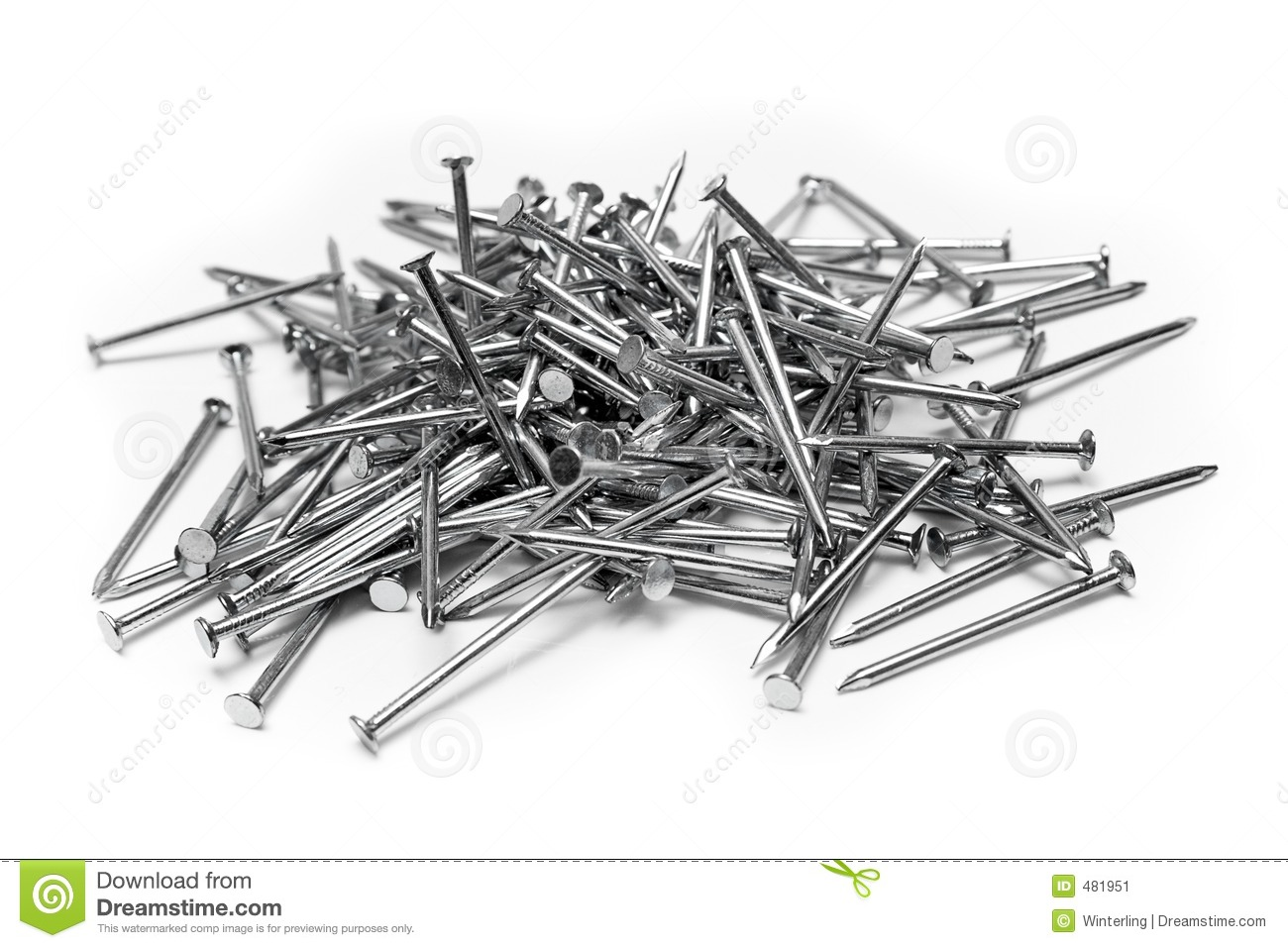 Bunch Of Nails Stock Image