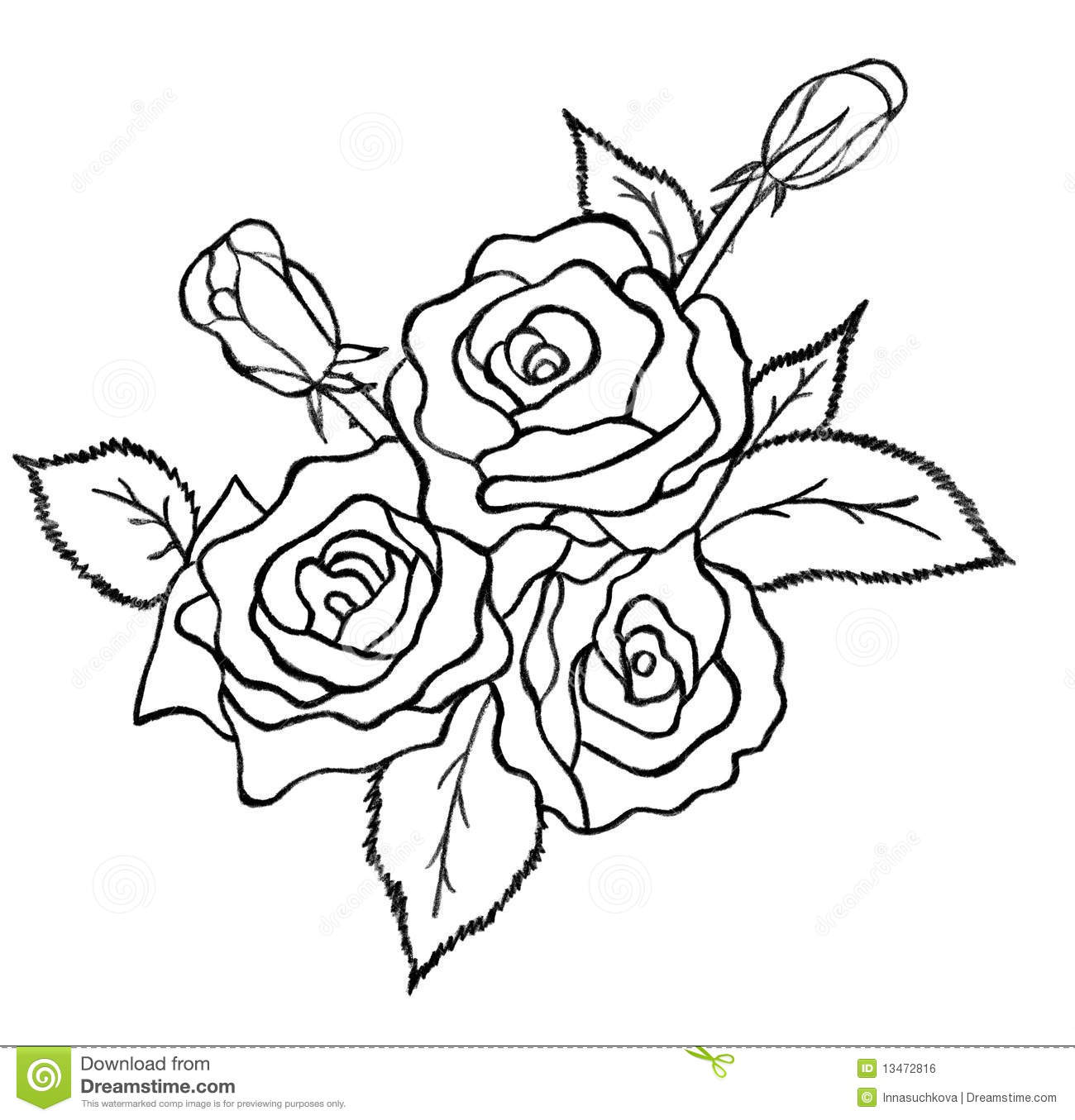 Easy Drawing Of Bunch Of Flowers Flowers Bunch Drawings In Pencil