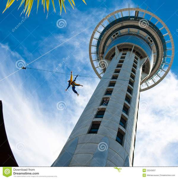 Royalty Free Stock Bungee Auckland Sky