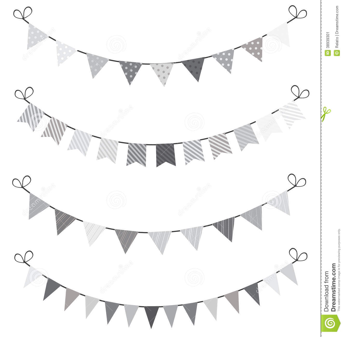 Bunting Stock Vector Illustration Of Gingham Event