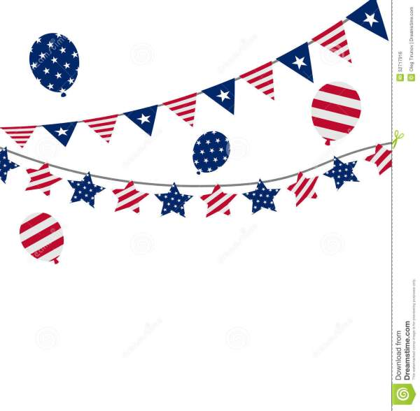 Bunting Pennants For Independence Day USA President Day