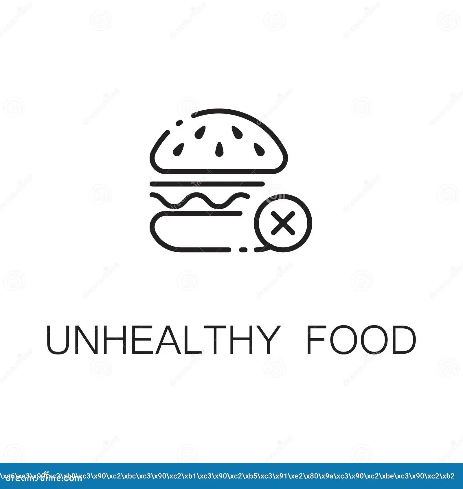 Burger Icon Outline Vector Illustration