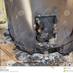 Kitchen Small Appliances Seat Cushions Ikea Burned Water Heater Stock Photo - Image: 64133391