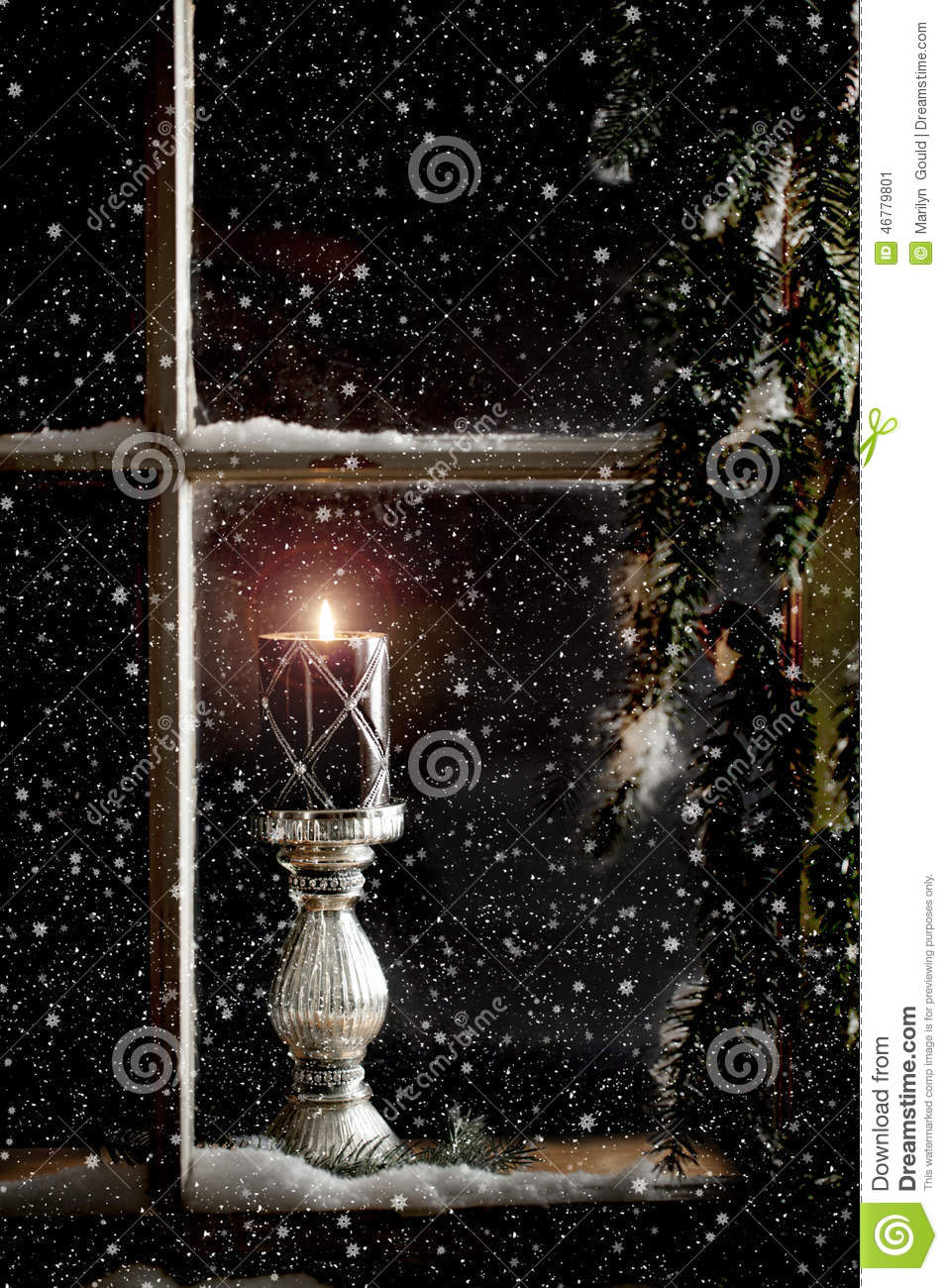 Christmas Wallpaper Gif Animations Burning Candle In Window Stock Image Image Of Winter