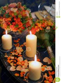 Burning Candles Flower Petals Stock - Year of Clean Water