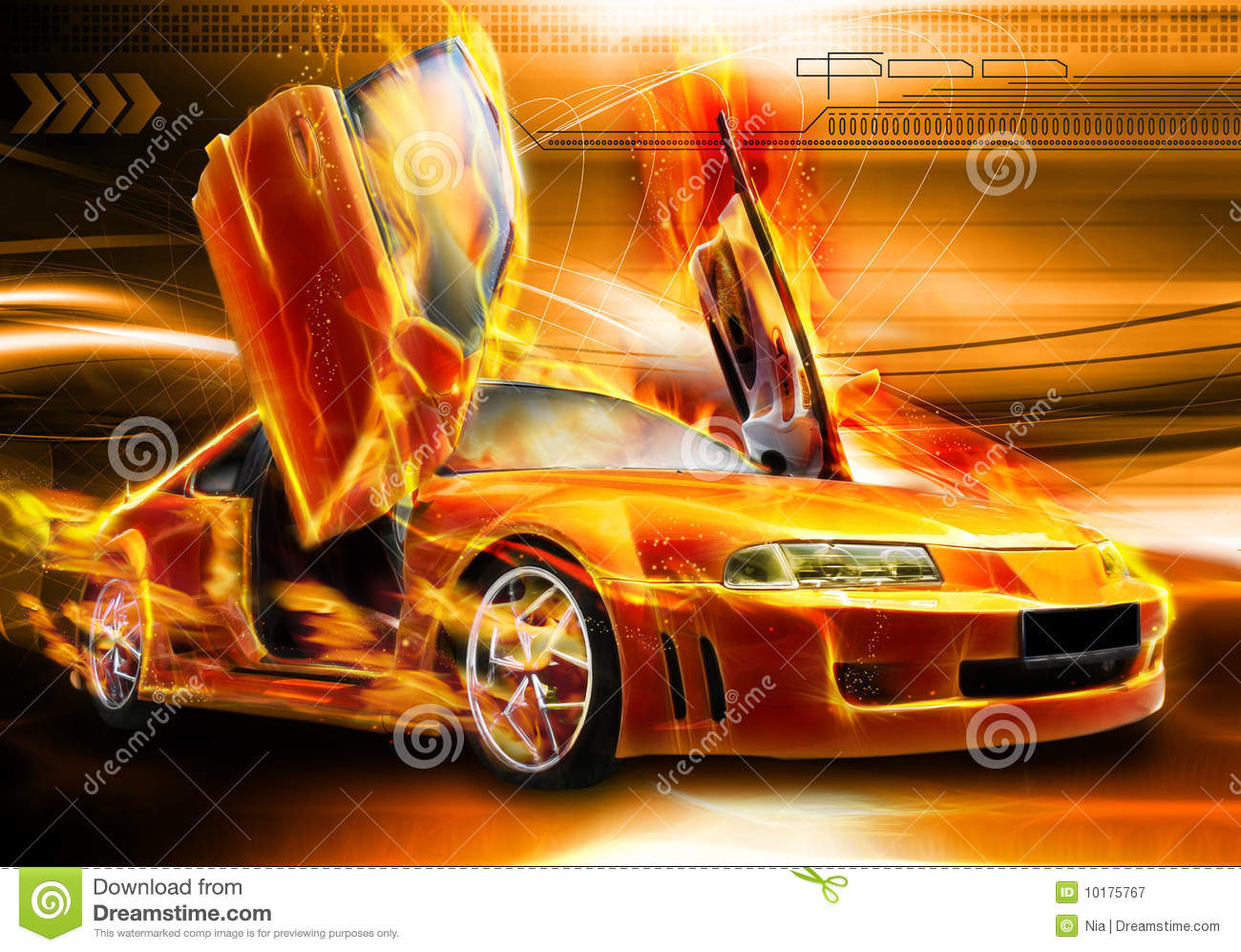Danger Girl Wallpapers Free Burning Car Background Royalty Free Stock Photography