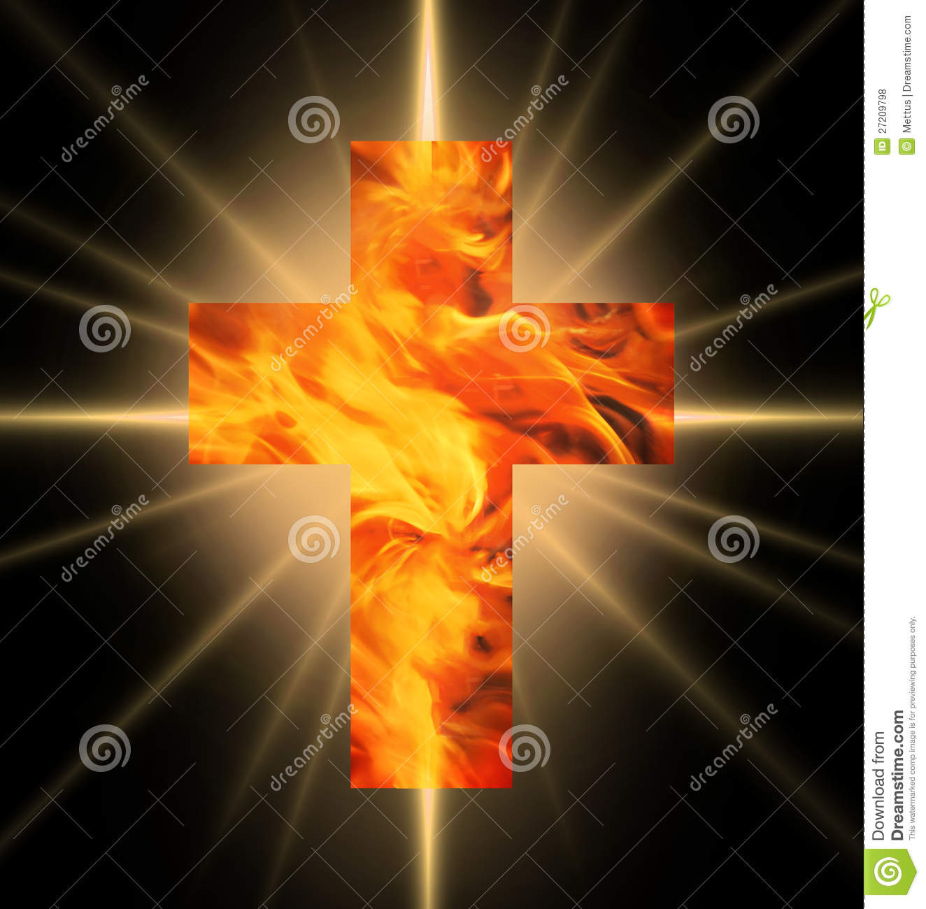 Holy Cross 3d Wallpaper Burning Cross Of Fire Royalty Free Stock Photos Image