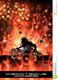 Burning Dj Background For Alternative Disco Flyers Stock ...