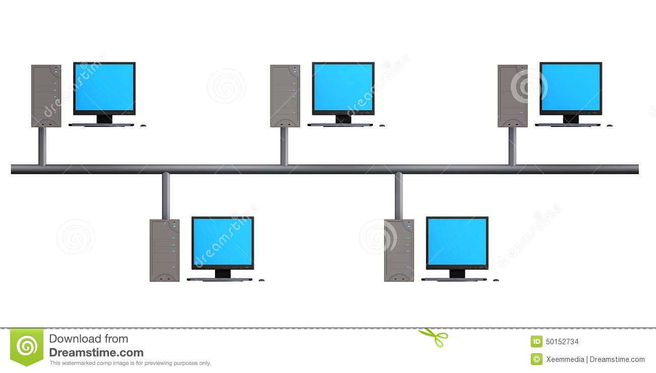 physical topology diagram 7 way trailer plug wiring with electric brakes bus stock illustration. illustration of computer - 50152734