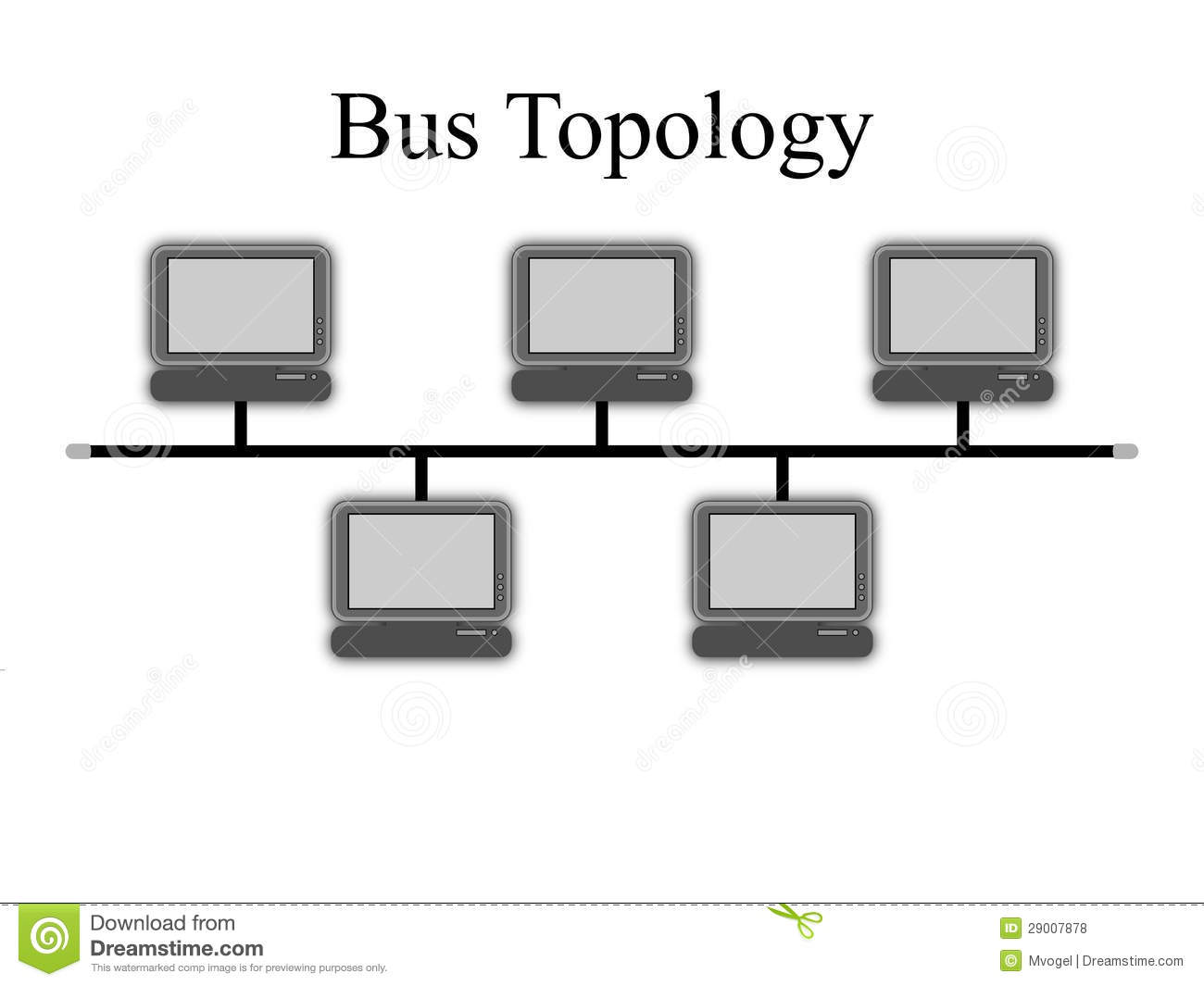 hight resolution of bus topology diagram