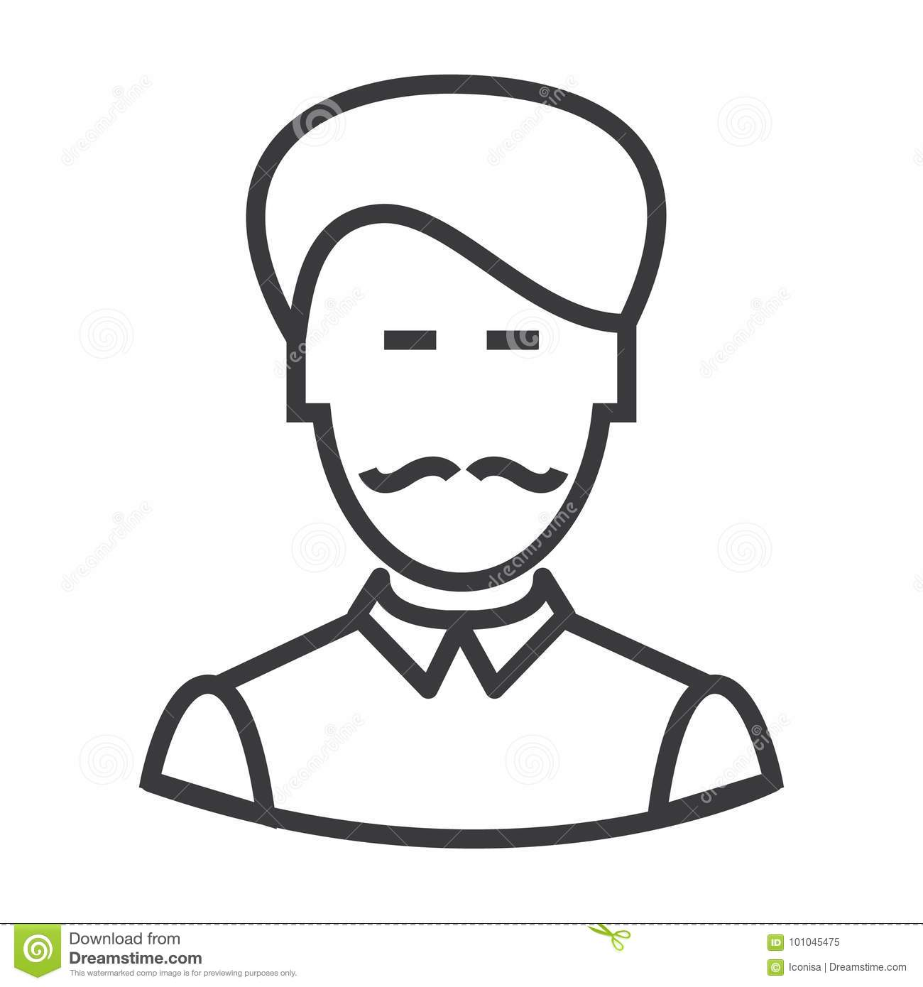 Vector Silhouette Of Businesman Vector Illustration