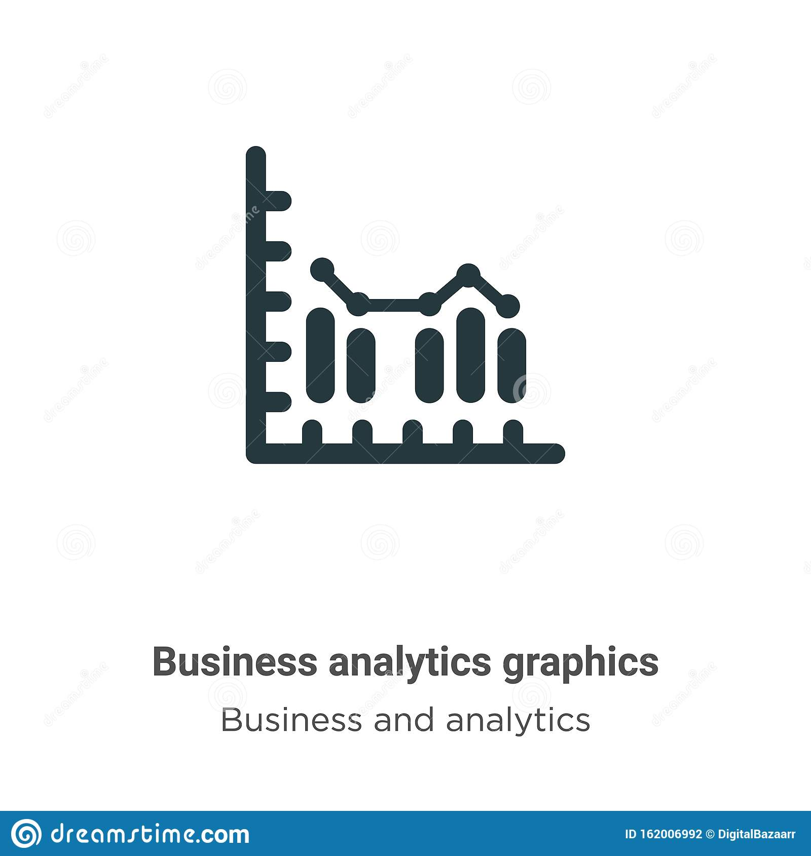 Business Analytics Graphics Vector Icon On White Background Flat Vector Business Analytics Graphics Icon Symbol Sign From Modern Stock Vector Illustration Of Data Diagram 162006992