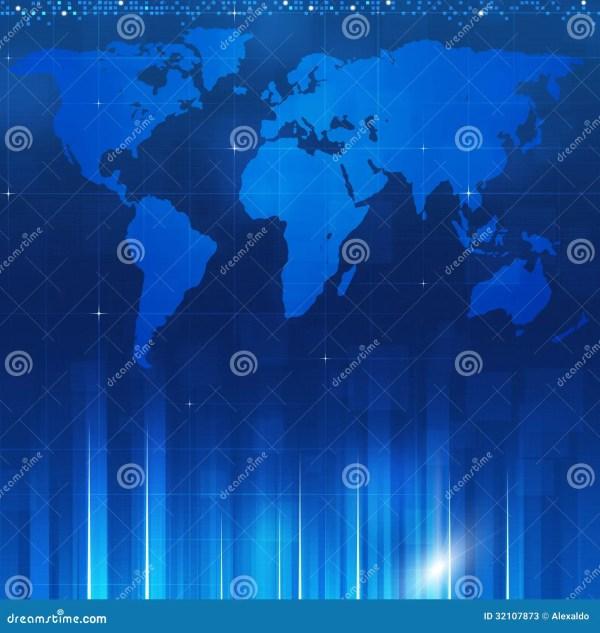 Business Blue Backgorund Stock Illustration. Of
