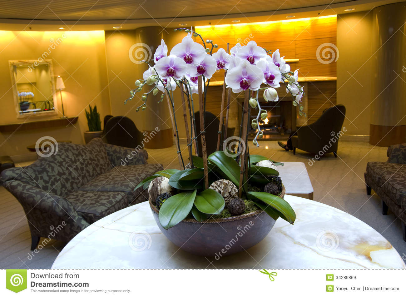 Business Building And Hotel Lobby Stock Image  Image