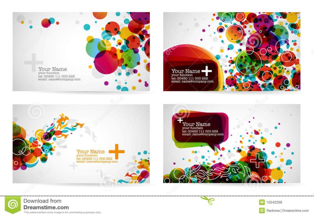 medium resolution of business card templates