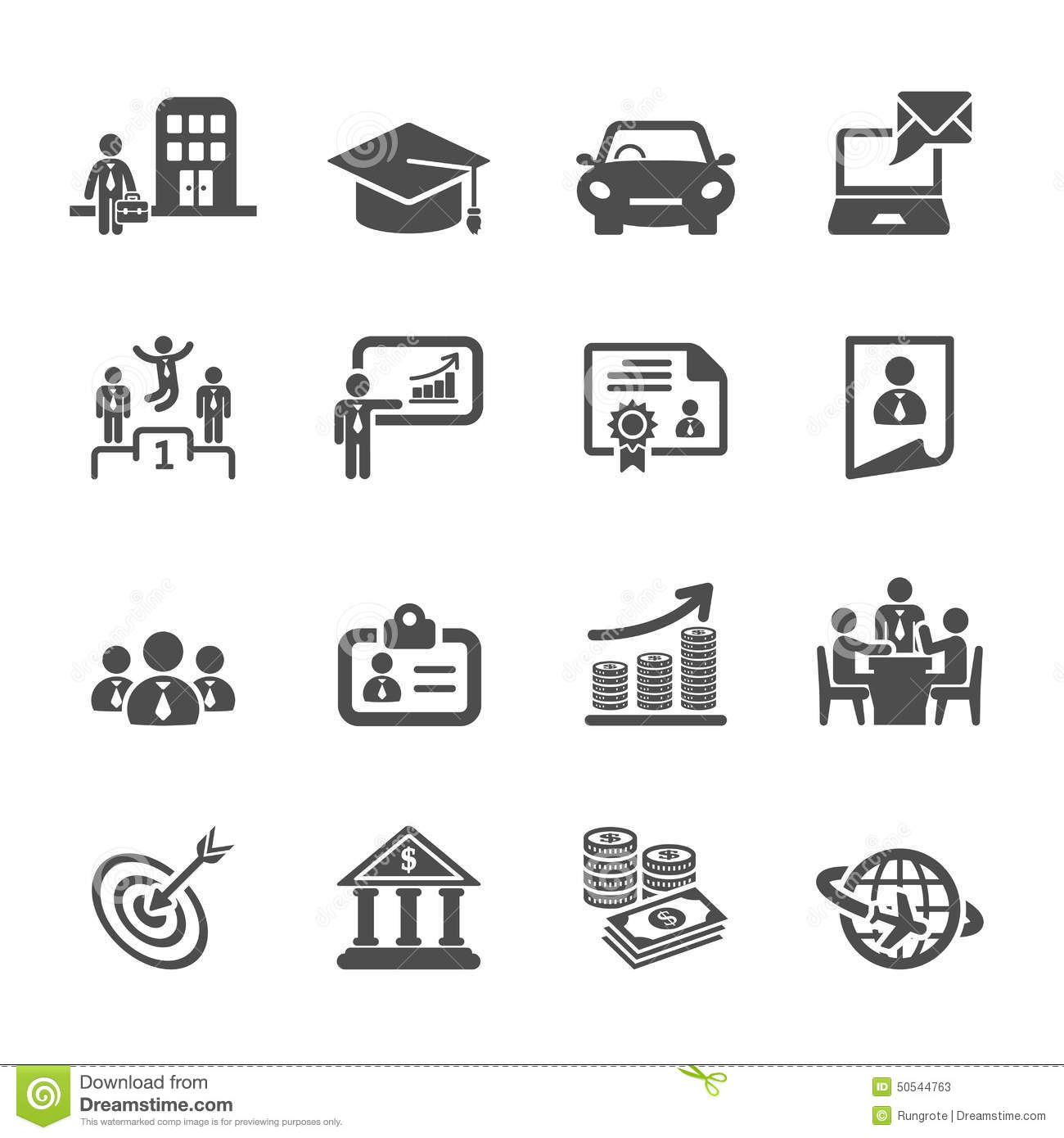 Business Career Life Cycle Icon Set, Vector Eps10 Stock