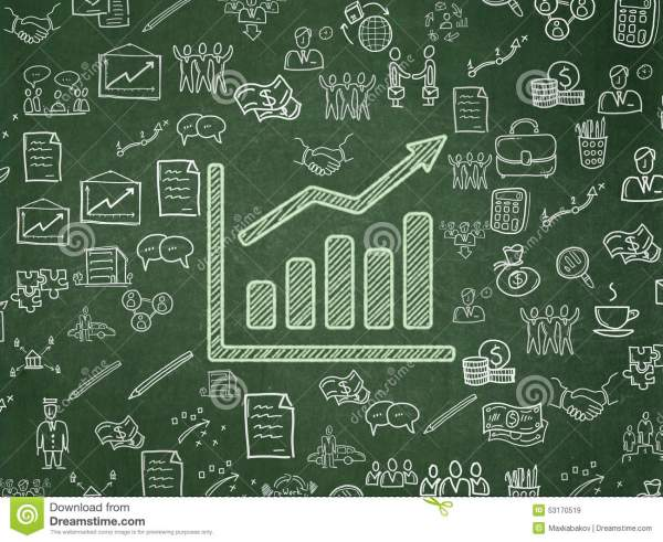 Business Concept Growth Graph School Board Stock