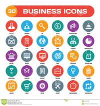 30 Business Creative Vector Icons In Flat Style For ...