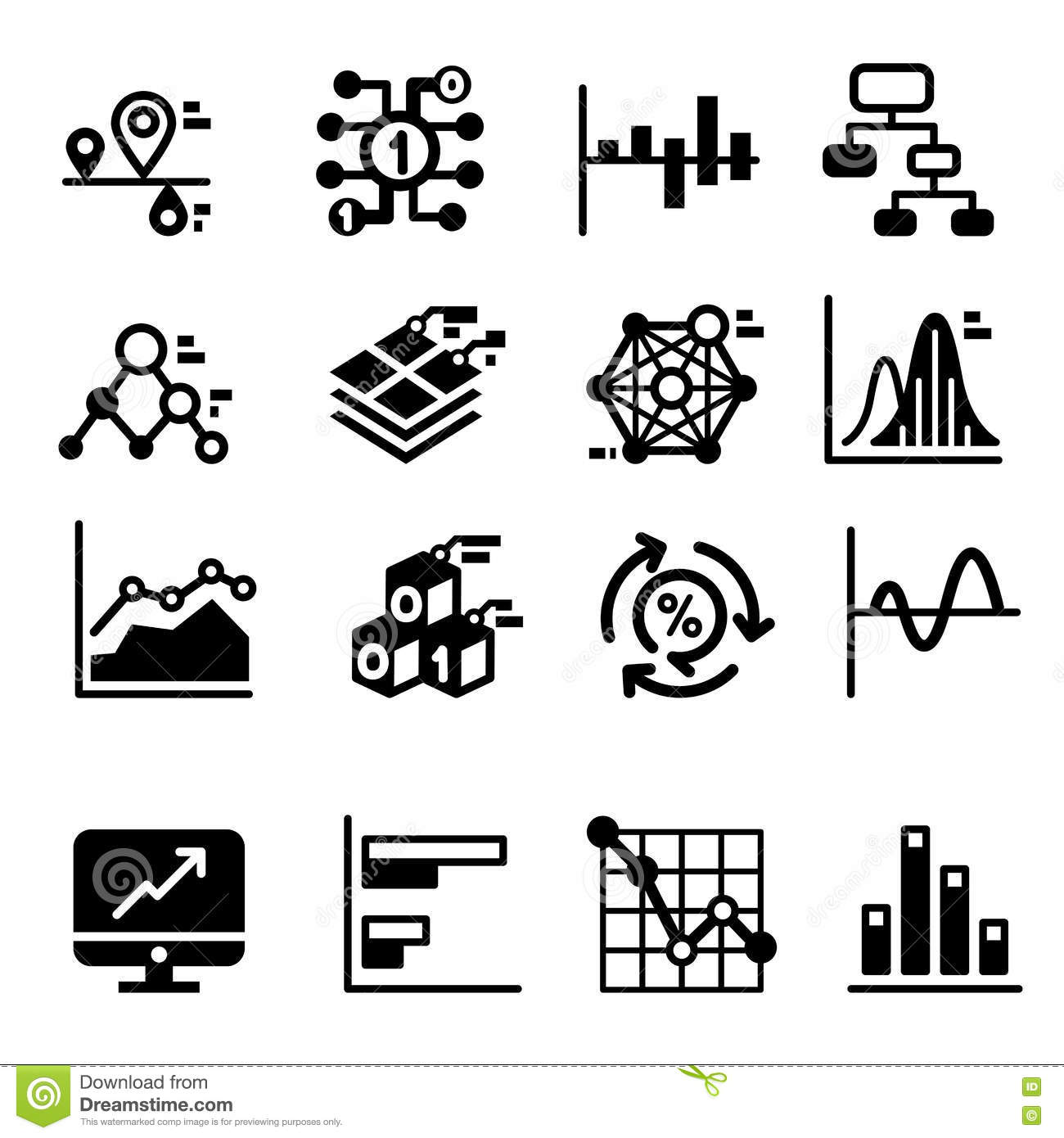 Business Diagram And Graph Icons Set Stock Vector