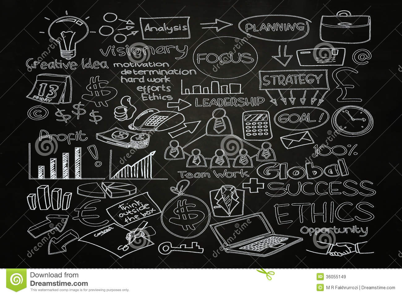 Business Doodle Royalty Free Stock Images  Image 36055149