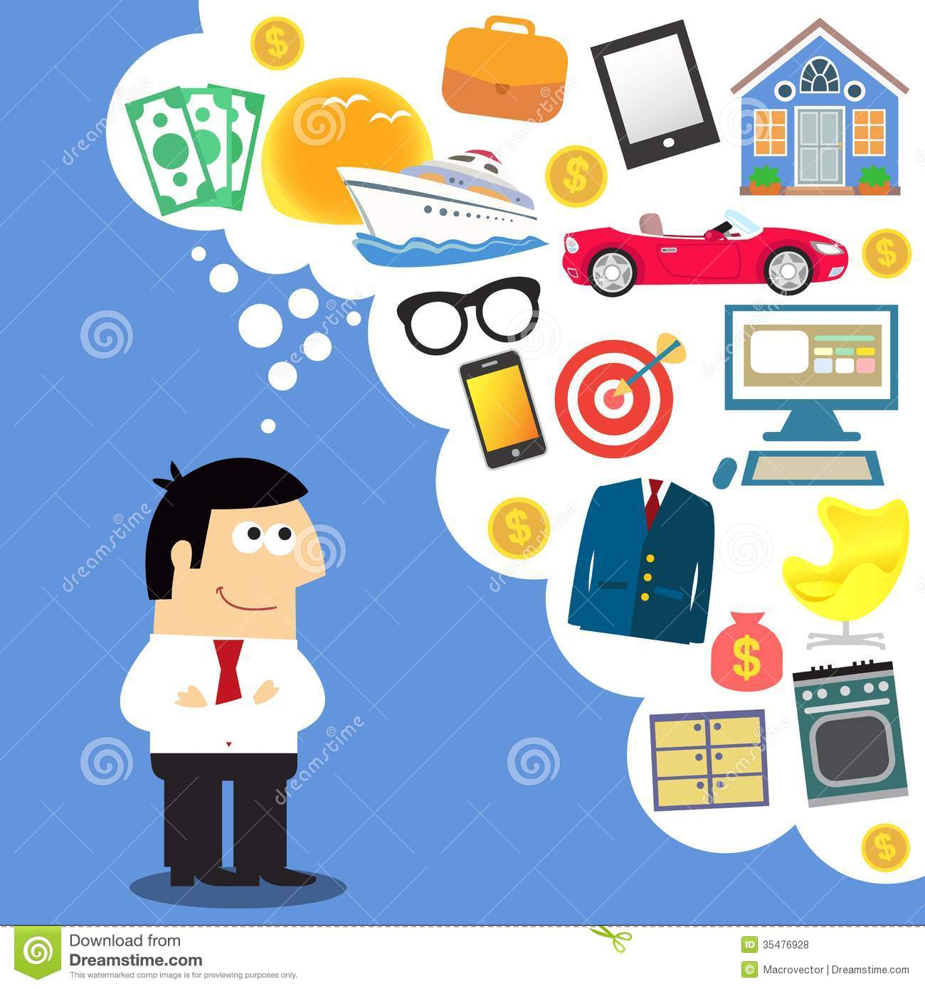 Business Dreams Future Planning Royalty Free Stock Photos