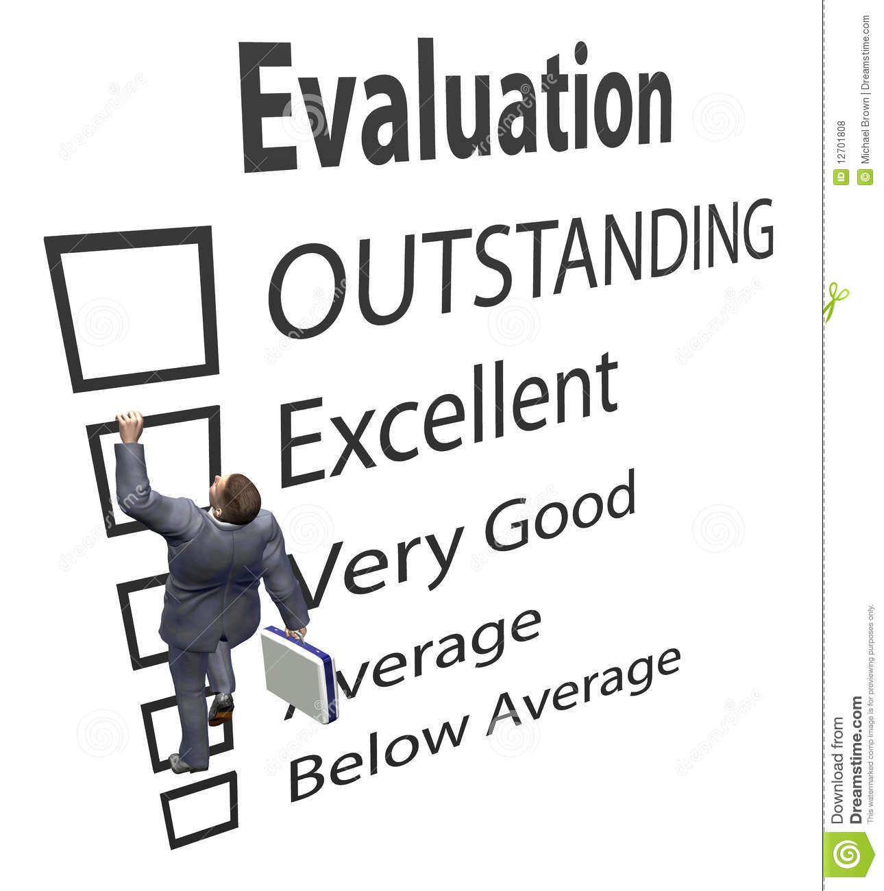 Business Employee Climbs Evaluation Form Stock